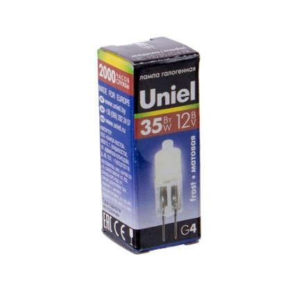 Лампа галогенная Uniel капсула G4 35 Вт 12 В свет теплый белый