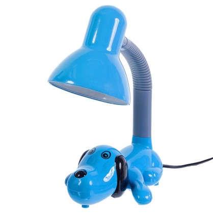 Лампа настольная Собачка E27 40 Вт цвет голубой