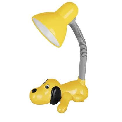 Купить Лампа настольная Собачка E27 40 Вт цвет желтый дешевле