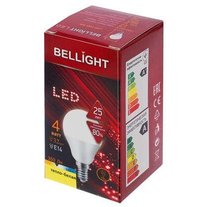 Светодиодная лампа Bellight Шар E14 4 Вт 350 Лм свет теплый белый