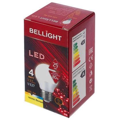 Купить Светодиодная лампа Bellight Шар E27 4 Вт 350 Лм свет теплый белый дешевле