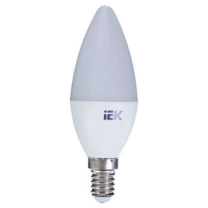 Купить Светодиодная лампа IEK C35 Свеча E14 7 Вт 3000К свет теплый белый дешевле