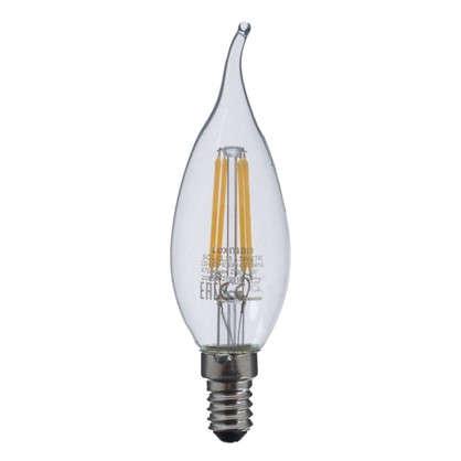 Светодиодная лампа Lexman Свеча на ветру E14 4.5 Вт 470 Лм свет теплый белый прозрачная колба цена