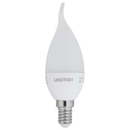 Купить Светодиодная лампа Lexman свеча на ветру E14 5.5 Вт 470 Лм свет холодный белый дешевле
