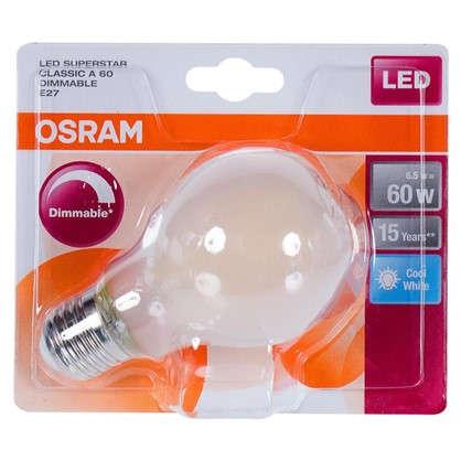 Светодиодная лампа Osram диммируемая E27 6 Вт 806 Лм свет холодный белый