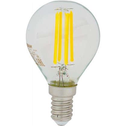 Светодиодная лампа Osram E14 220 В 5 Вт шар 3 м² свет холодный белый