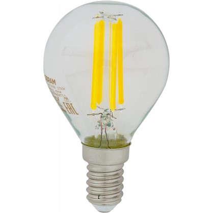 Светодиодная лампа Osram E14 220 В 5 Вт шар 3 м² свет теплый белый