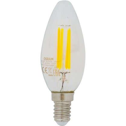Светодиодная лампа Osram E14 220 В 5 Вт свеча 3 м² свет теплый белый