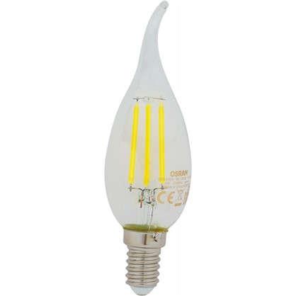Светодиодная лампа Osram E14 220 В 5 Вт свеча на ветру 3 м² свет холодный белый