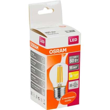 Купить Светодиодная лампа Osram E27 220 В 5 Вт шар 3 м² свет теплый белый дешевле