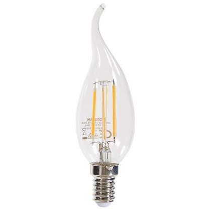 Купить Светодиодная лампа Osram свеча на ветру E14 4 Вт 470 Лм свет теплый белый дешевле