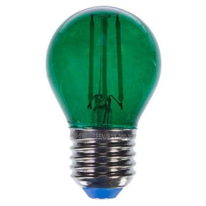 Светодиодная лампа Uniel Color шар E27 5 Вт свет зеленый