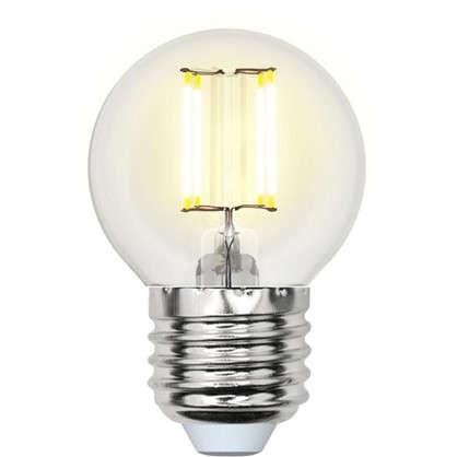 Светодиодная лампа Uniel E27 220 В 6 Вт шар 2.5 м² холодный свет