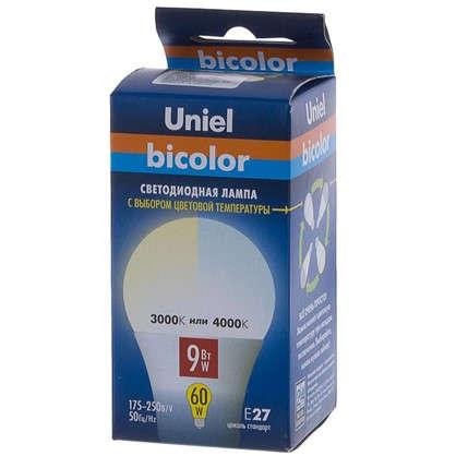 Светодиодная лампа Uniel E27 9 Вт 720 Лм свет теплый/холодный белый