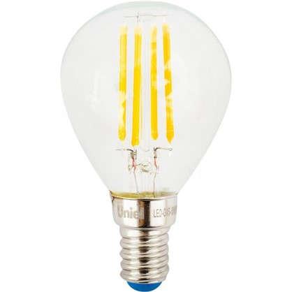 Светодиодная лампа Uniel шар E14 6 Вт 500 Лм свет холодный