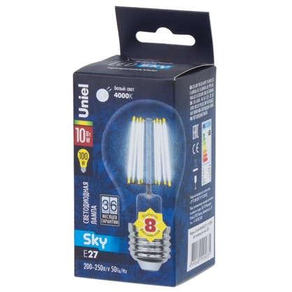 Светодиодная лампа Uniel Sky E27 10 Вт 900 Лм свет холодный белый
