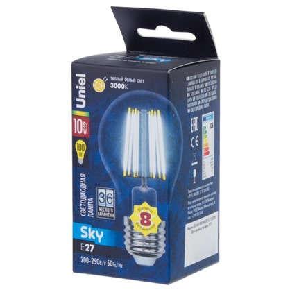 Купить Светодиодная лампа Uniel Sky E27 10 Вт 900 Лм свет теплый белый дешевле
