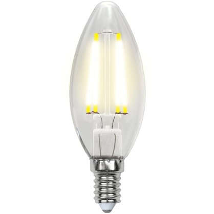 Светодиодная лампа Uniel свеча E14 6 Вт 500 Лм свет холодный