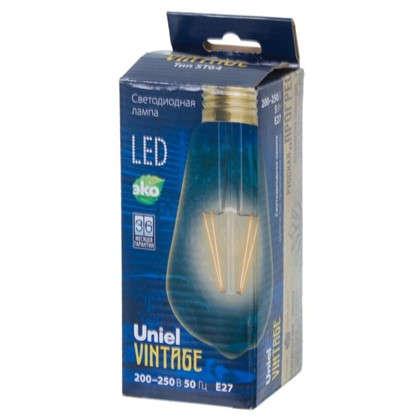 Лампа светодиодная Uniel Vintage конус E27 5 Вт 450 Лм свет теплый белый
