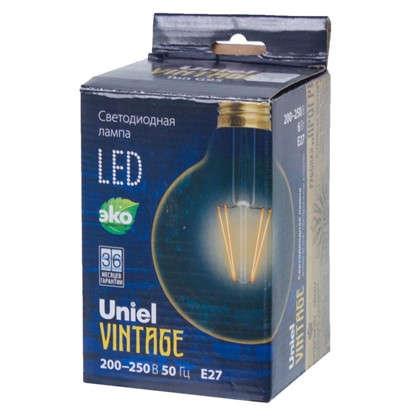 Лампа светодиодная Uniel Vintage шар E27 6 Вт 510 Лм свет теплый белый