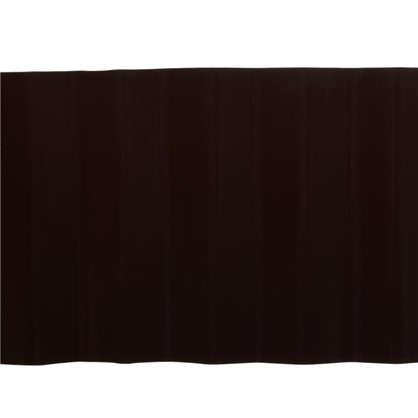 Купить Лента бордюрная декоративная Гофра высота 20 см цвет коричневый дешевле