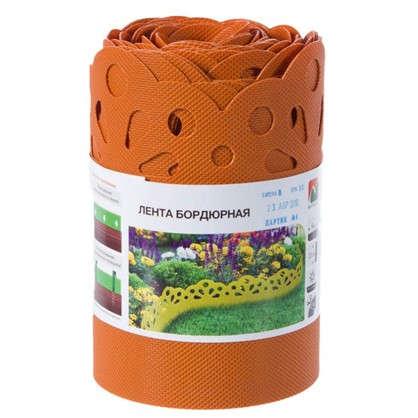 Купить Лента бордюрная декоративная Naterial высота 20 см цвет оранжевый дешевле