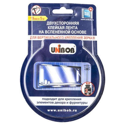 Купить Лента для зеркал Unibob 19 мм х 5 м дешевле