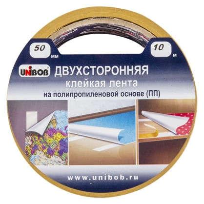 Лента двусторонняя полипропиленовая Unibob 50 мм х 10 м