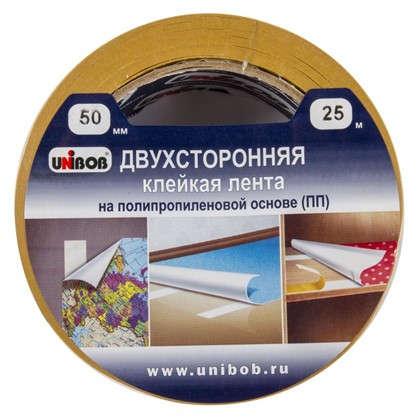 Лента двусторонняя полипропиленовый Unibob 50 мм х 25 м