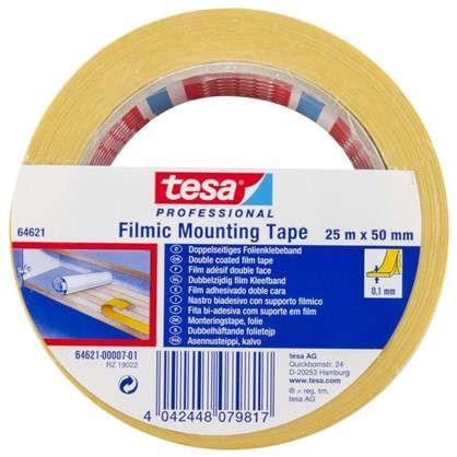 Лента двусторонняя Tesa 50 мм х 25 м цвет прозрачный
