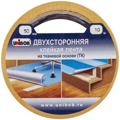 Лента двусторонняя тканевая Unibob 50 мм х 10 м