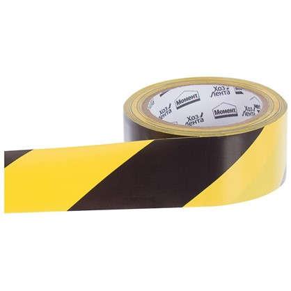 Лента хозяйственная разметочная Момент 50 мм 25 м цвет желто-черный