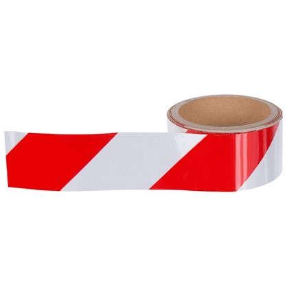 Лента хозяйственная светоотражающая Момент 48 мм 5 м цвет красно-белый