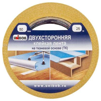 Лента клейкая двухсторонняя Unibob 50 мм х 25 м