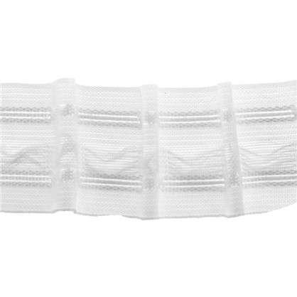 Шторная лента матовая параллельная 29 мм цвет белый