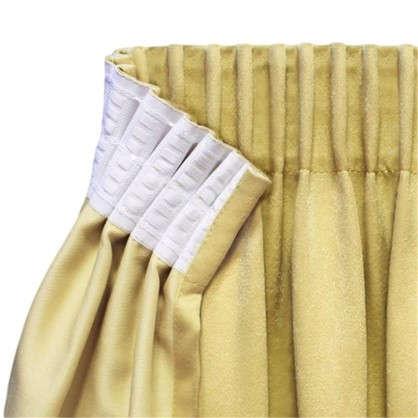 Купить Шторная лента параллельная 67 мм цвет белый дешевле