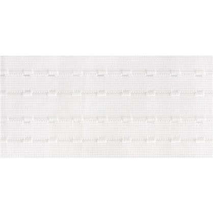 Шторная лента параллельная 76 мм цвет белый