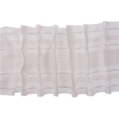 Шторная лента параллельная многофункциональная 80 мм цвет белый