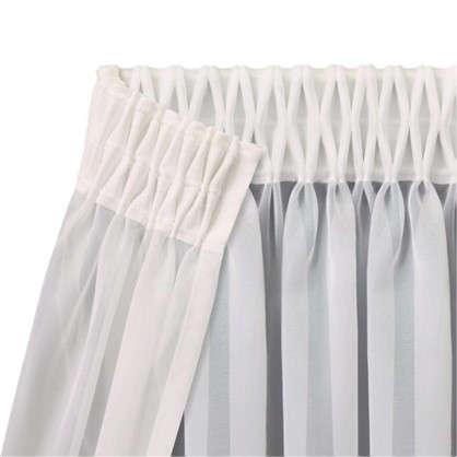 Шторная лента вафельная 60 мм цвет белый