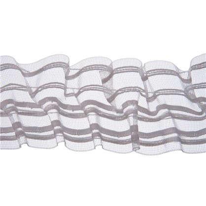 Шторная лента вафельная прозрачная 60 мм цвет белый