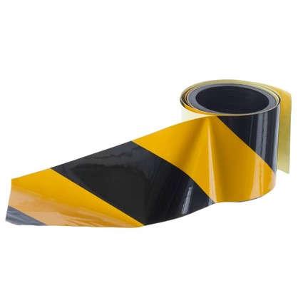 Лента светоотражающая самоклеящаяся 100х5 см цвет желто-черный