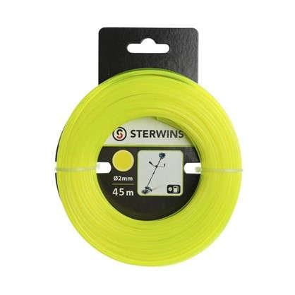 Леска для триммера Sterwins 2 мм х 45 м круглая цвет жёлтый