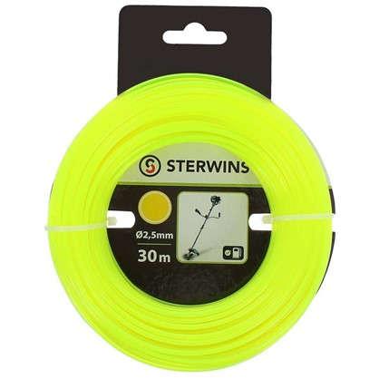Купить Леска для триммера Sterwins 2.5 мм х 30 м круглая цвет жёлтый дешевле