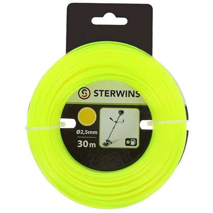 Леска для триммера Sterwins 2.5 мм х 30 м круглая цвет жёлтый