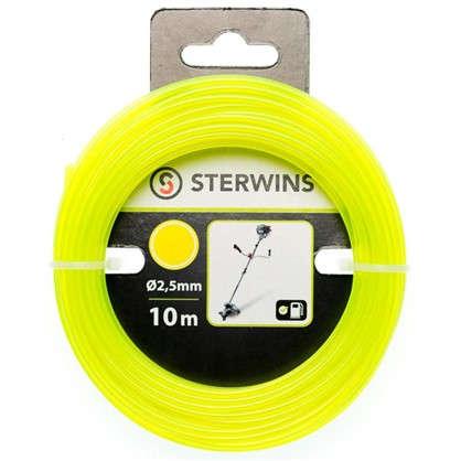 Леска сменная для триммера Sterwins 2.5 мм х 10 м круг цвет жёлтый
