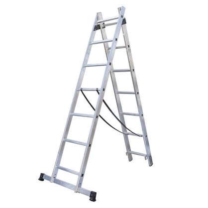 Купить Лестница раскладная двухсекционная Standers 7 ступеней дешевле