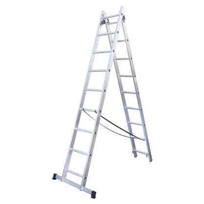 Купить Лестница раскладная двухсекционная Standers 9 ступеней дешевле