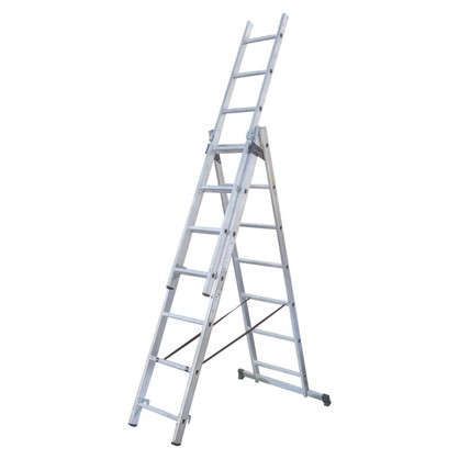 Купить Лестница раскладная трёхсекционная Standers 11 ступеней дешевле