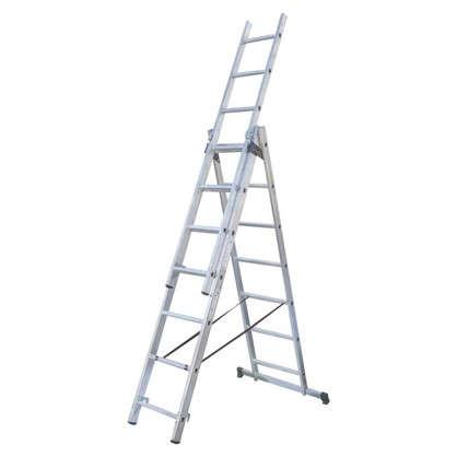 Купить Лестница раскладная трёхсекционная Standers 9 ступеней дешевле