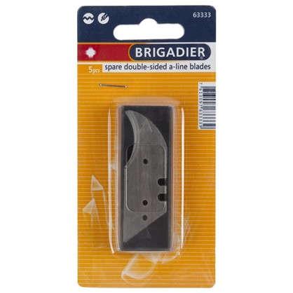 Лезвия для ножа трапециевидные Brigadier для точных резов 5 шт.